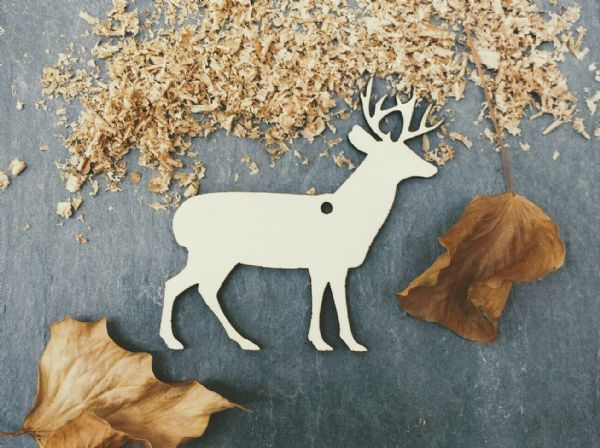 Laser 4mm Plywood Christmas Reindeer Shapes, pack of 10
